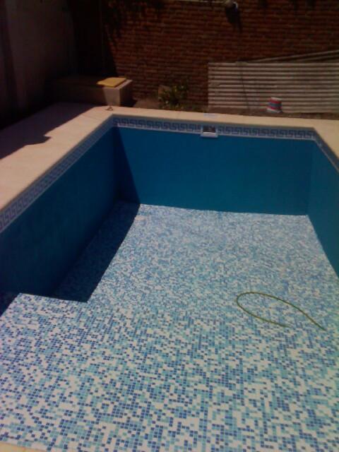 Trabajo de mano de la piscina