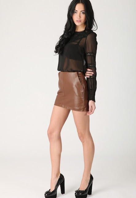Women Leather Mini Skirts 2012