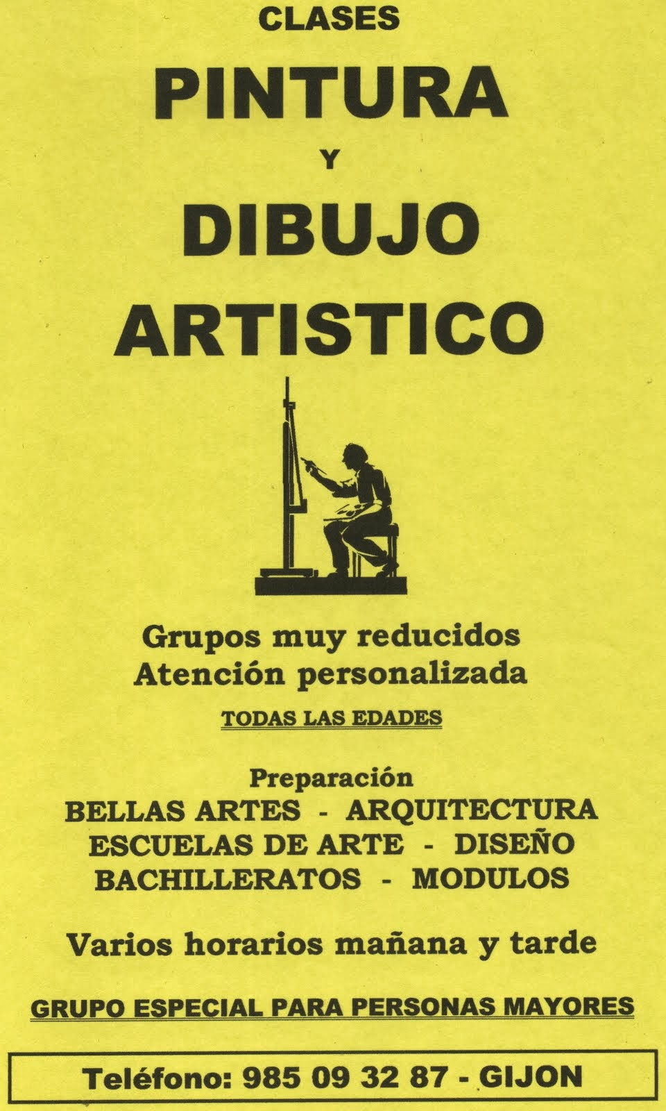 CLASES DE DIBUJO Y PINTURA EN GIJON