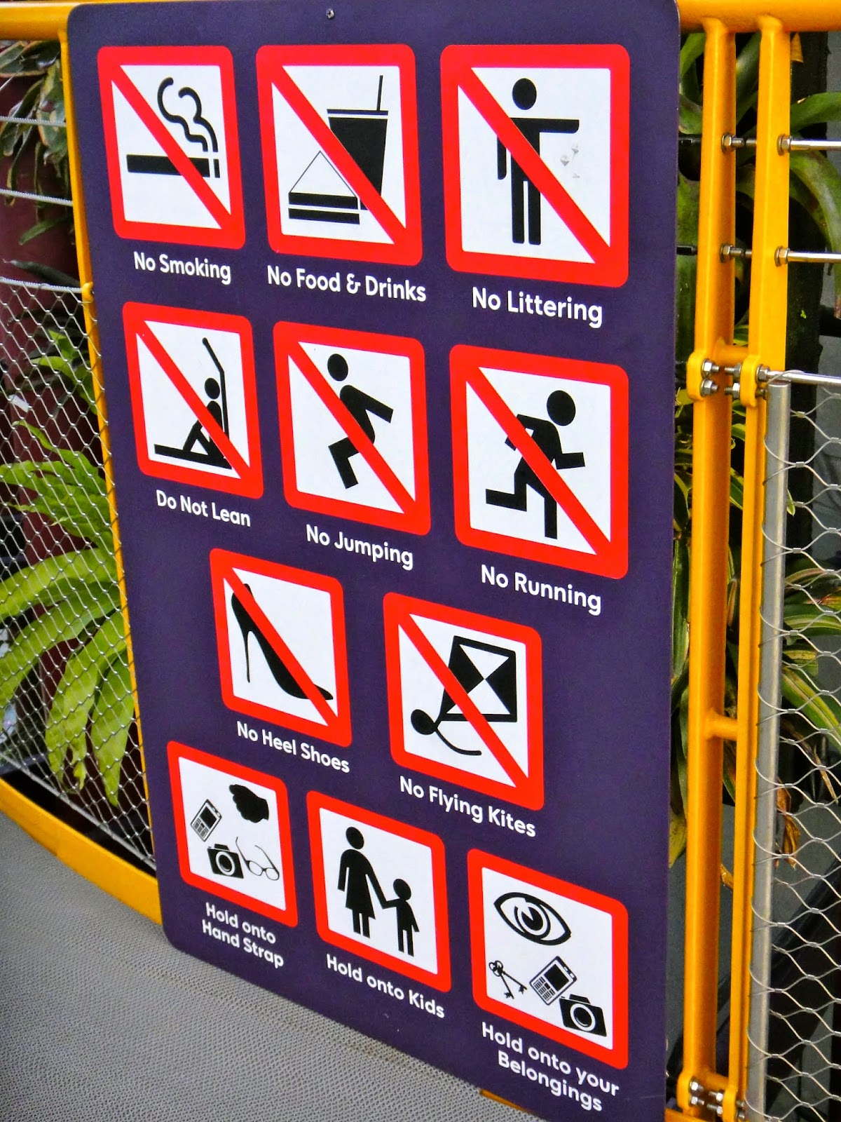Rules at OCBC Skyway Gardens by the Bay