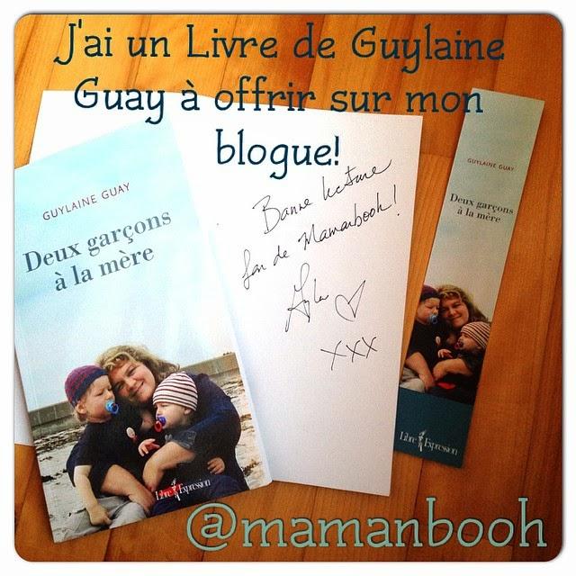 Concours livre Deux garçons à la mère  Guylaine Guay @mamanbooh Julie Philippon
