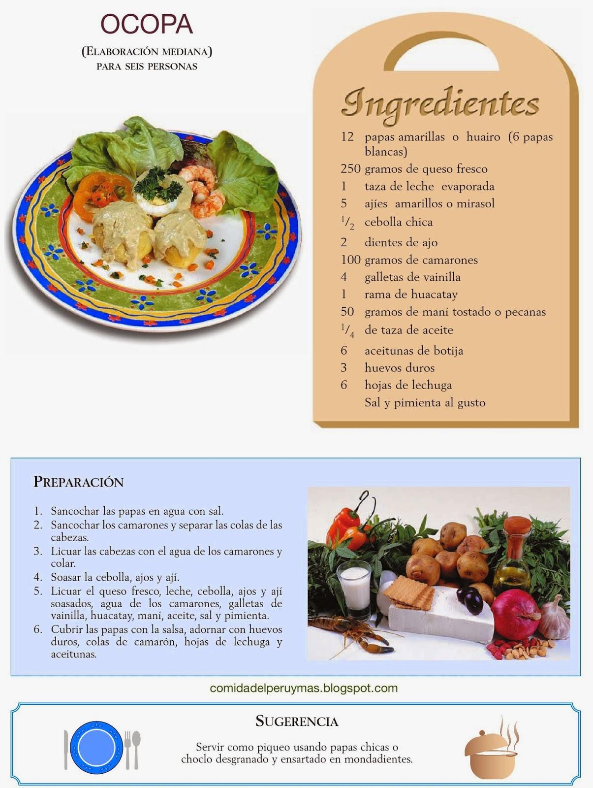 Como preparar ocopa receta sencilla recetas de comida for Ingredientes para comida