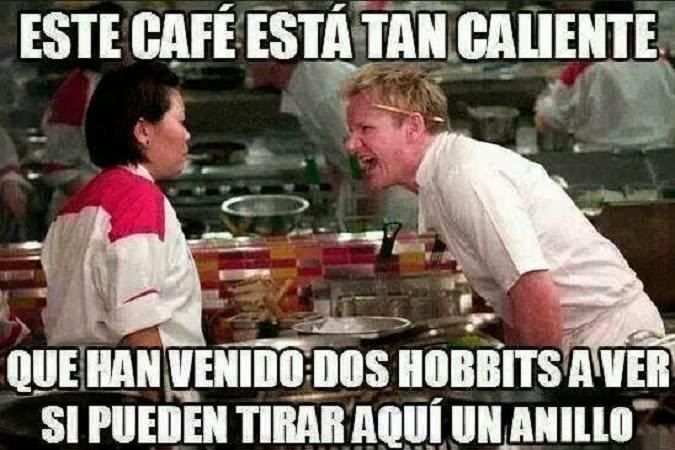 Café muy caliente