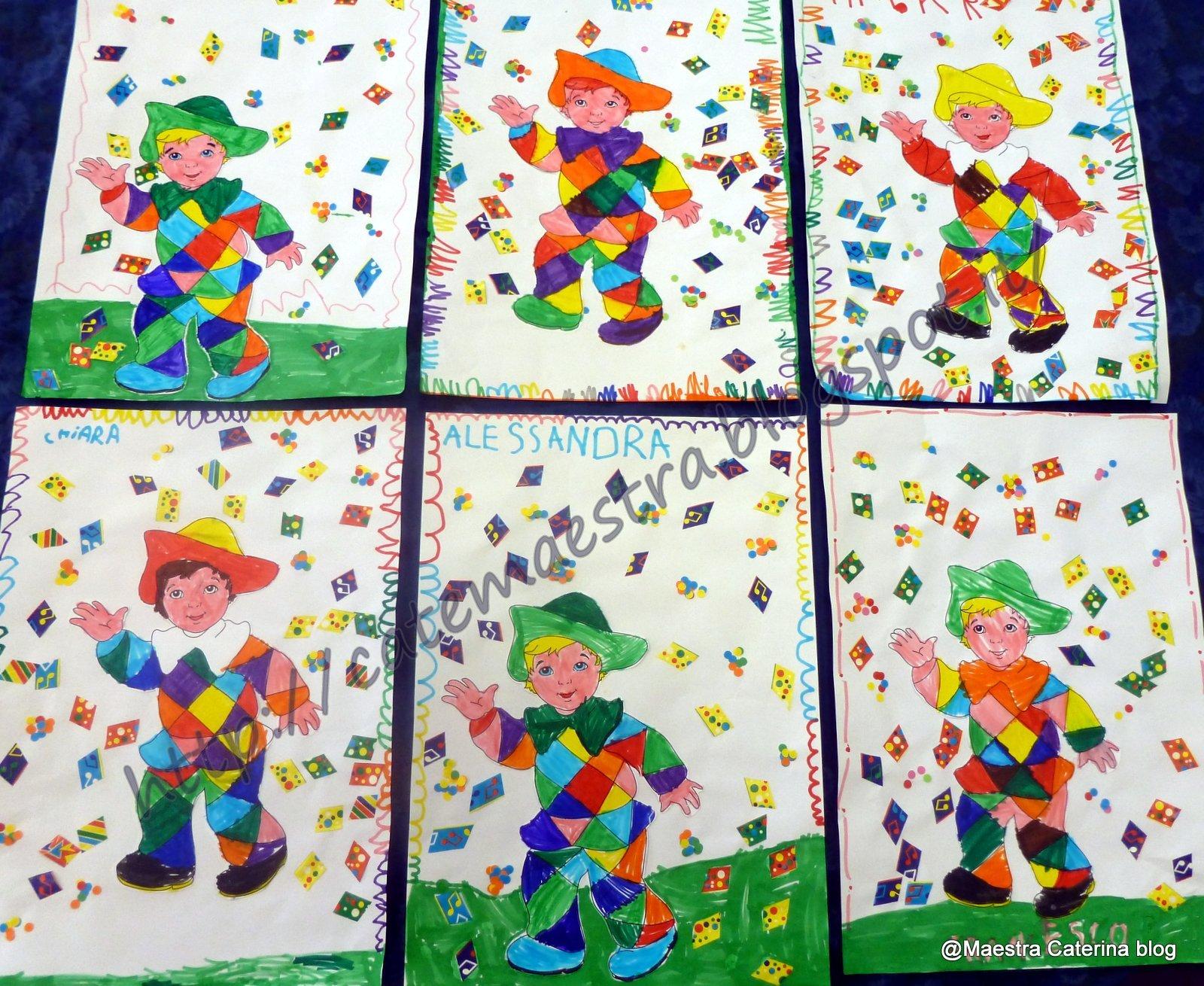 Maestra caterina arlecchino for Cartelloni di carnevale scuola primaria