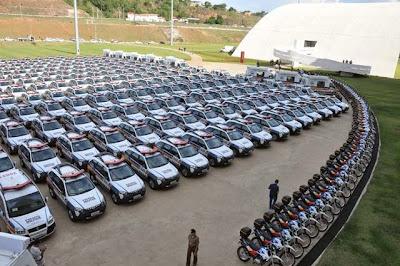 Viaturas da Policia Militar de Minas Gerais