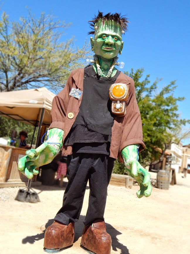 Frankenstein cosplay at Old Tucson Studios