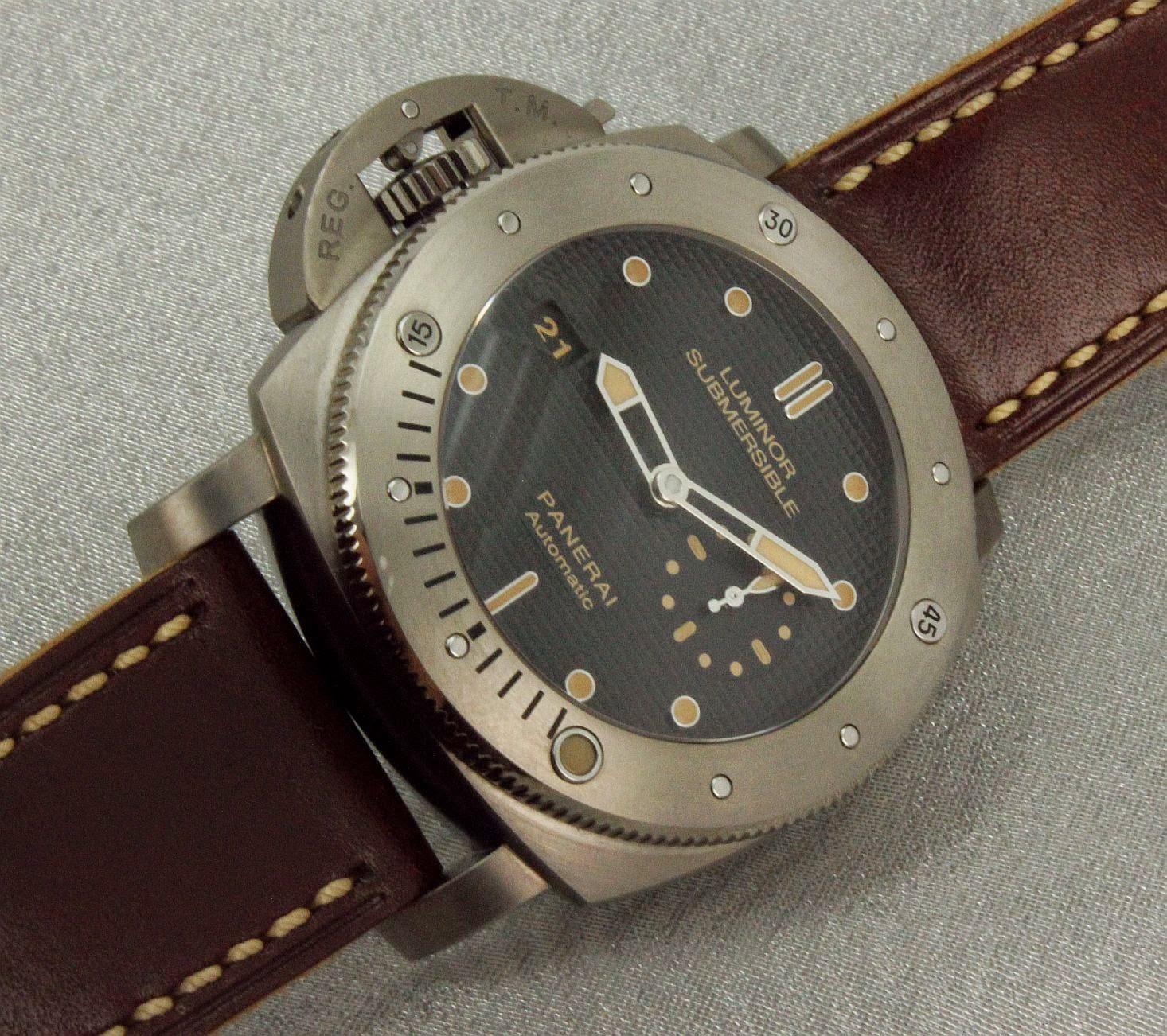Wristwatch pictures panerai 569 titanium diver - Panerai dive watch ...