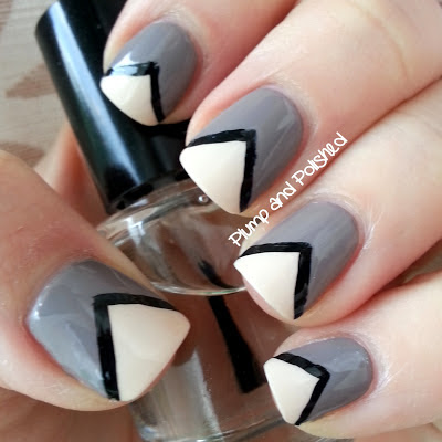 plump and polished simple chevron nail art