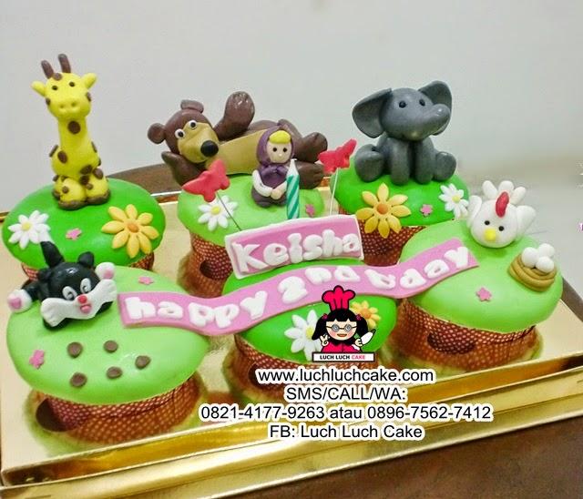 Cupcake Hias Tema Binatang Daerah Surabaya - Sidoarjo