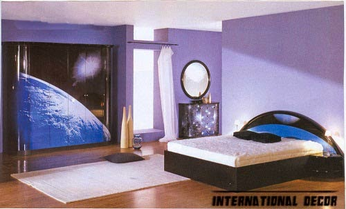 bedroom lighting ideas, bedroom lights, purple bedroom