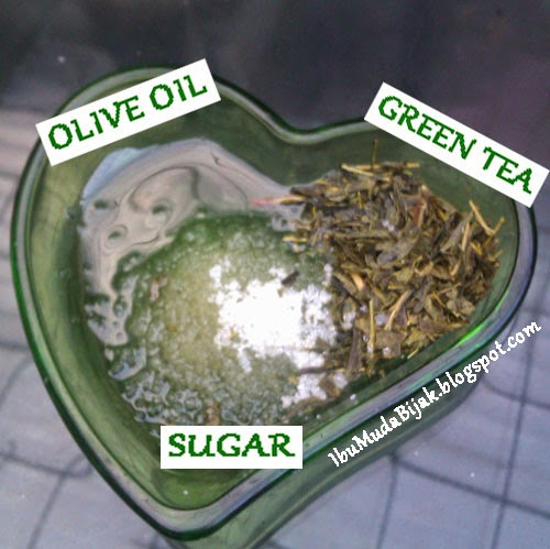 Homemade Green Tea Scrub