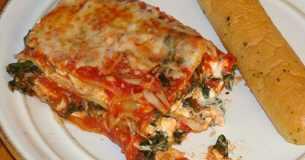 just cooking spinach and mushroom lasagna