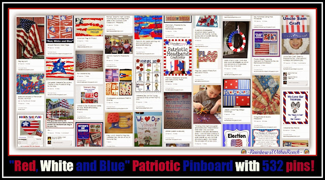 'Red, White and Blue' Patriotic Pinboard Collection by Debbie Clement