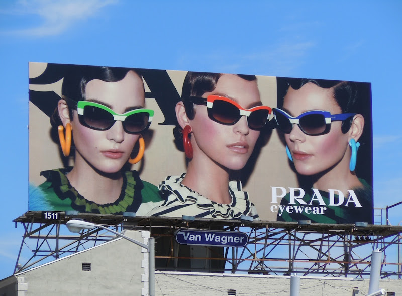 Colourful Prada Eyewear billboard