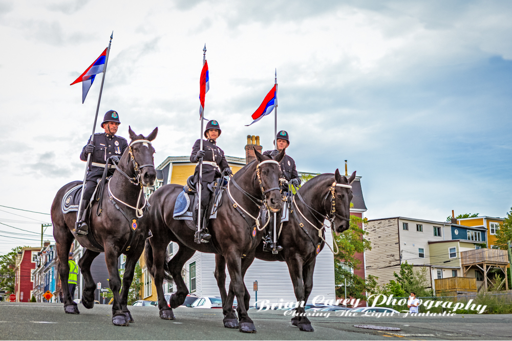 Memorial Day Parade St John's Newfoundland by Brian Carey