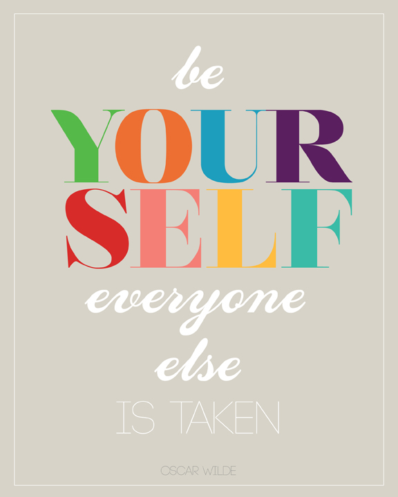 free poster print be yourself oscar wilde