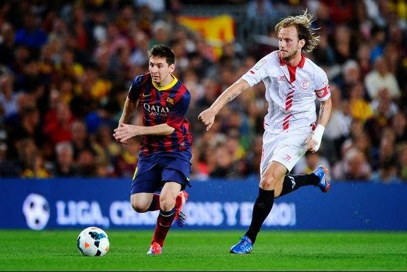 Sevilla vs Barcelona La Liga February 9 2014