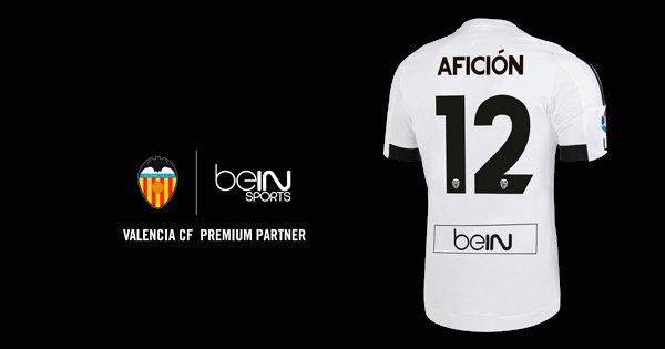 El Valencia lucirá el logo de beIN Sports en su camiseta