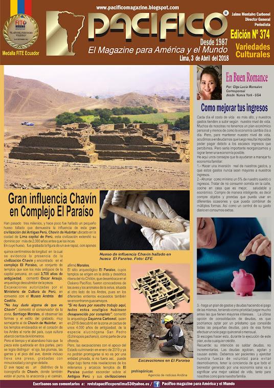 Revista Pacifico Nº 374 Variedades Culturales