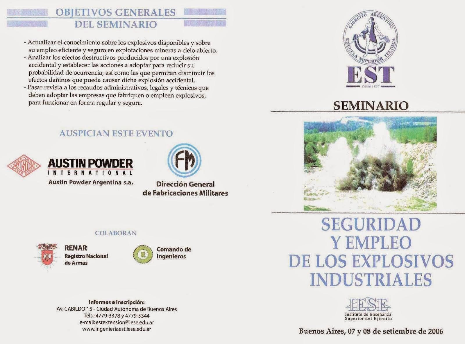 SEGURIDAD Y EMPLEO DE EXPLOSIVOS INDUSTRIALES