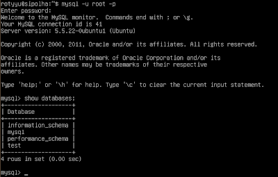 MySQL client di Ubuntu Sever
