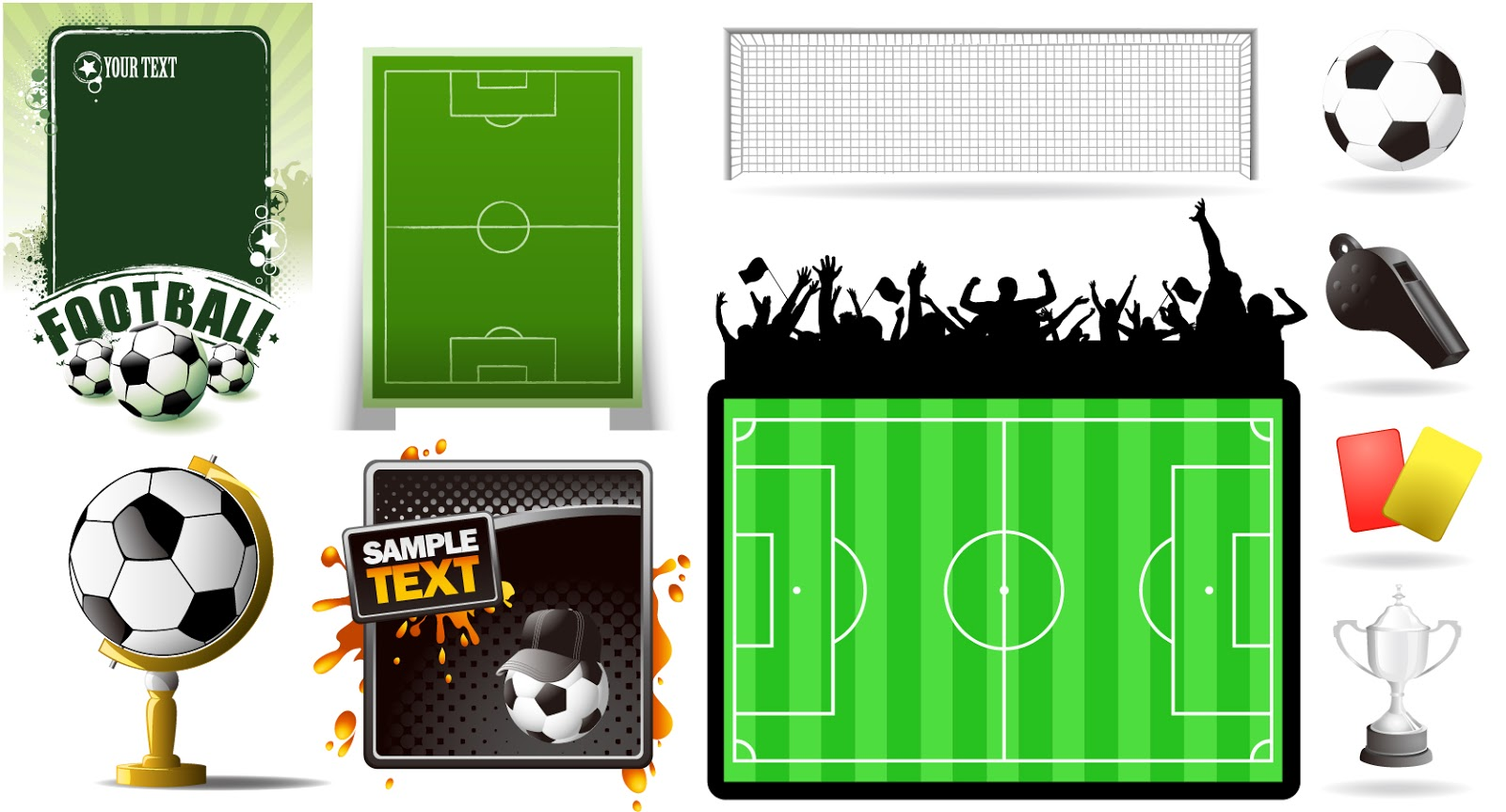 ... 素材 football theme vector イラスト : カード イラスト 素材 : イラスト
