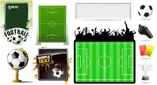 サッカー関連テーマ素材 football theme vector イラスト素材