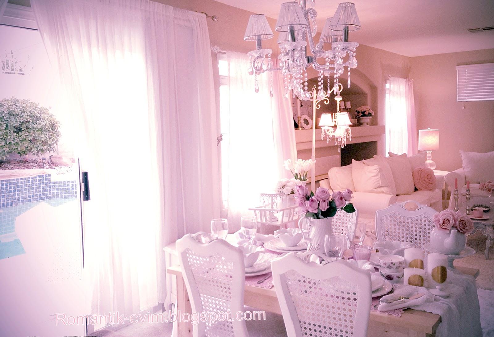 my shabby chic home romantik evim romantik ev. Black Bedroom Furniture Sets. Home Design Ideas