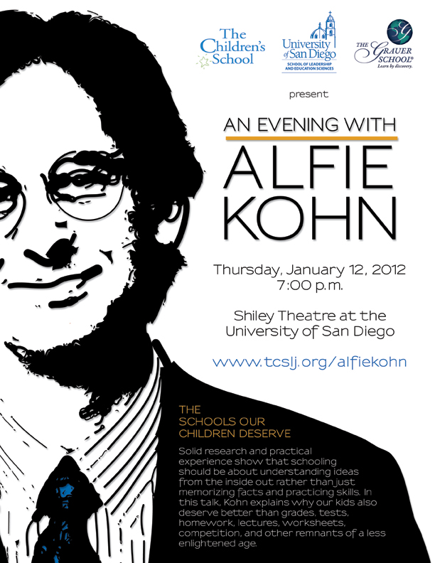 alfie kohn Drawing from the latest of his 13 books, the myth of the spoiled child, education and parenting expert alfie kohn challenges common fears and misconceptions about kids — what they're like and how they're raised.