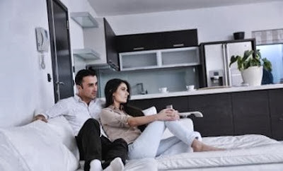 Creating a Home with a Loved One - man woman love romance living room
