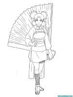 Mewarnai Gambar Temari Naruto Shippuden