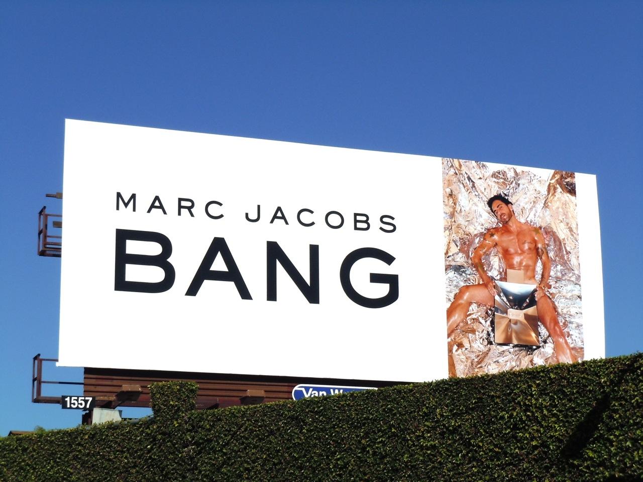Marc Jacobs Bang fragrance billboard The fashion designer himself bared all