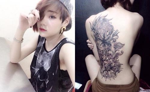 Hình Xăm Hoa Văn Ở Lưng Nữ