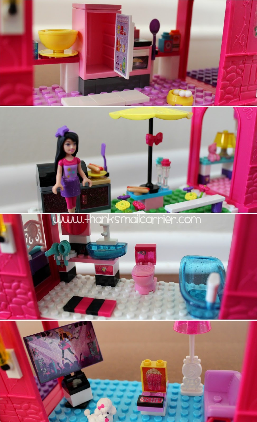 Mega Bloks Barbie Mansion rooms