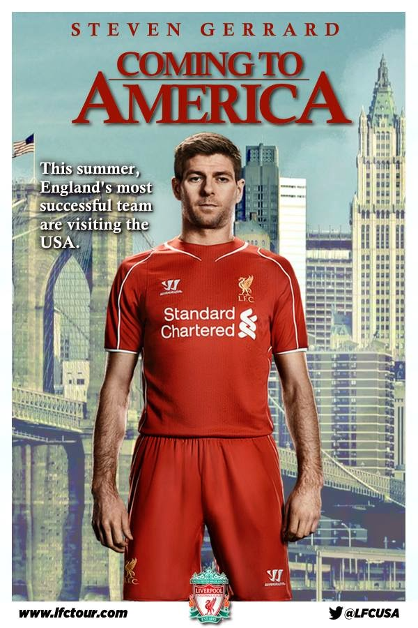 Steven Gerrard, Liverpool, funny, Coming to America, US Pre Season Tour, movie poster, film poster, meme