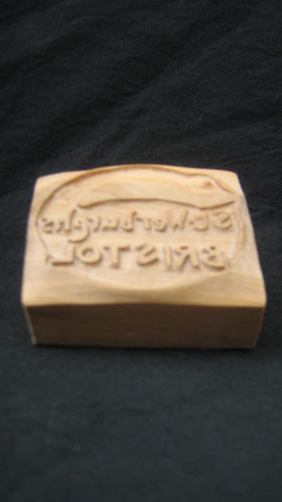 Wooden stamps for steve carter of saint werburghs pottery
