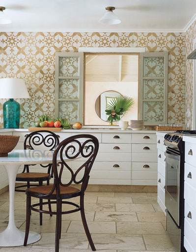 Country kitchen wallpaper design ideas for Vinyl wallpaper for walls