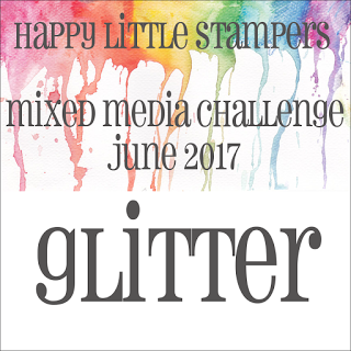 +++HLS June Mixed Media Challenge Glitter до 30/06