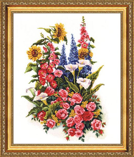 Вышивка крестом золотое руно цветы