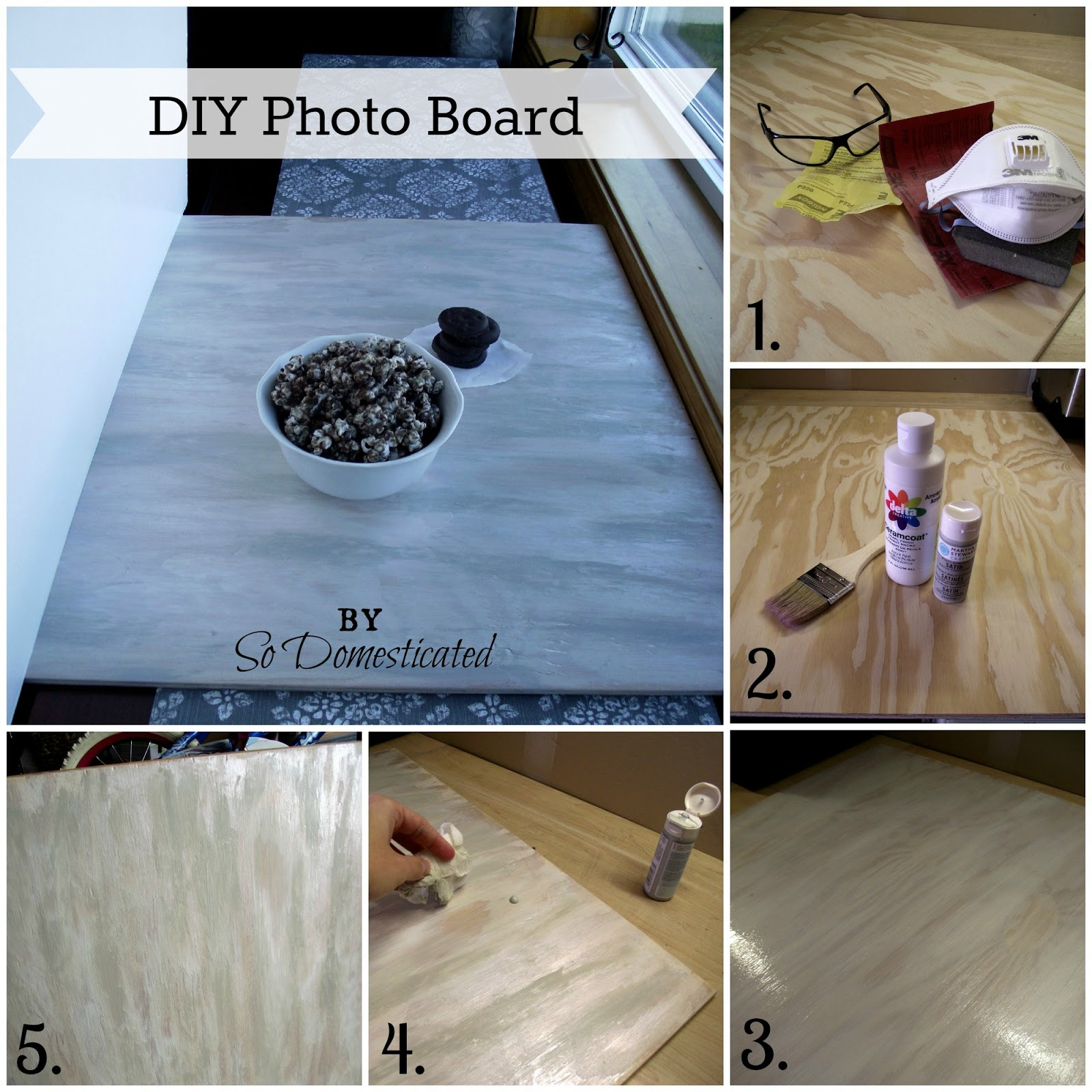 So Domesticated DIY Photo Board For Food Photography