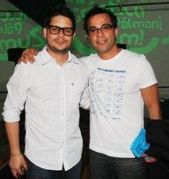 Gian Piero Díaz y su inseparable amigo Renzo Shuller