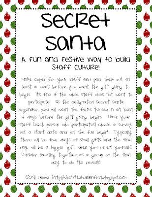 Secret Santa Gift Exchange Form Images & Pictures - Becuo