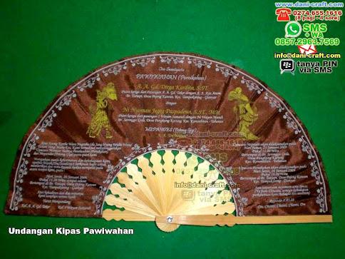Undangan Kipas Pawiwahan Kain Bali