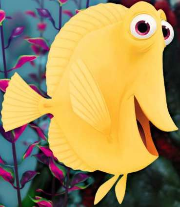 Digitista mediawave the characters and actors of finding for Bubbles fish finding nemo