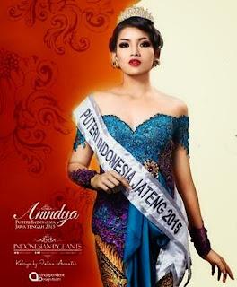 Foto dan Biodata Anindya Kusuma Putri Juara Putri Indonesia 2015
