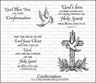 Our Daily Bread Designs, Confirmation