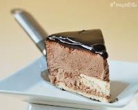 Tarta de mousse de chocolate y pannacotta