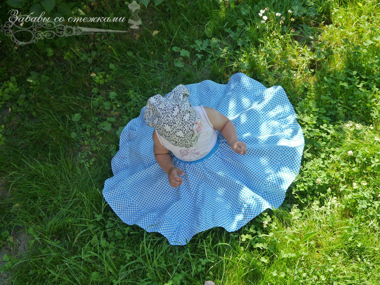 детская юбочка-солнце