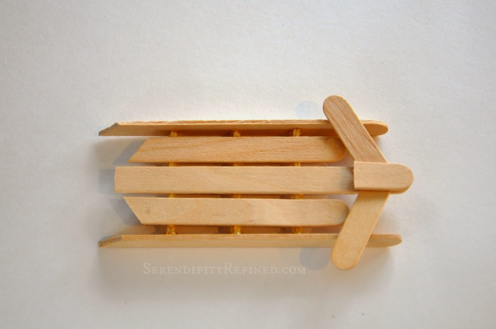serendipity refined blog simple popsicle stick sled