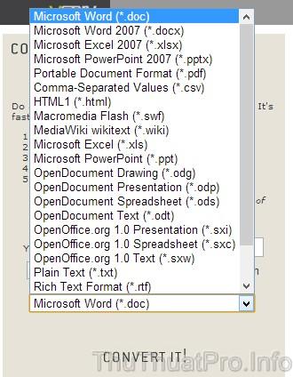 Chuyển đổi định dạng Docx sang Doc và nhiều định dạng khác nhau